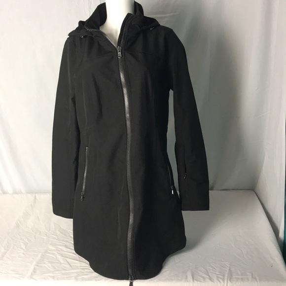 fd9991fa2b5 Kristen Blake Black Cross Dye Soft Shell Coat